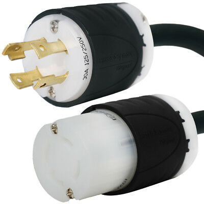 Generator Power Cord - L14-30 Extension Cord - 50 Foot, 30 Amps, 125/250V