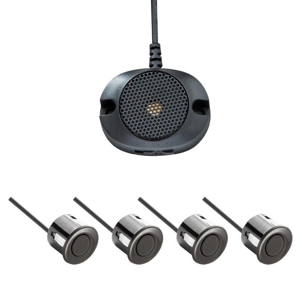 akustische Einparkhilfe mit 4-Sensoren in Schwarz Rückfahrwarner Parkhilfe PDC