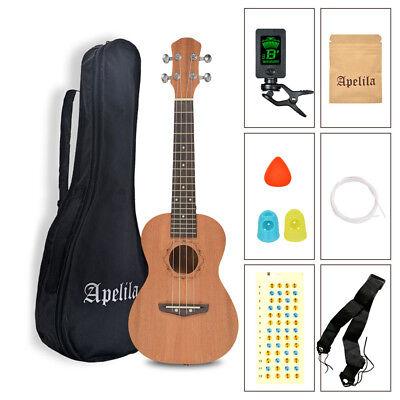 23 inch Concert Ukulele Apelila Acoustic Hawaii Guitar Mahogany Music Instrument