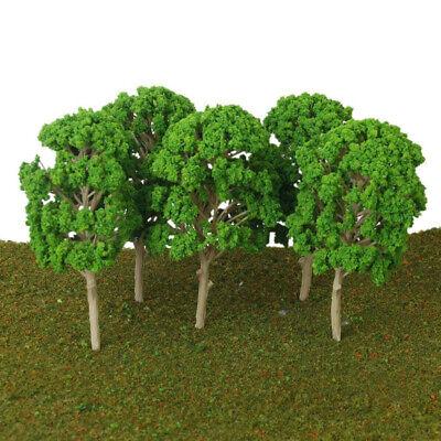 5pcs/set 1:50-75 Plastic Green Model Trees For Railway Train Park Landscape New