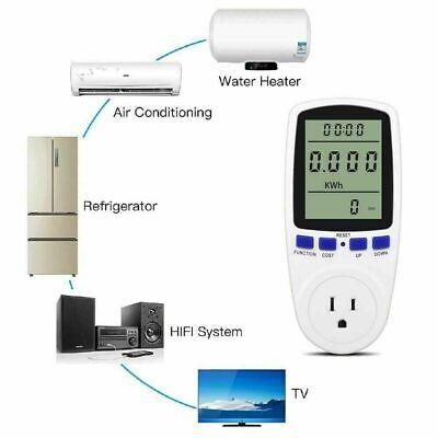 Digital Electricity Power Saving Energy Monitor Watt Amps Volt Meter Analyzer Us
