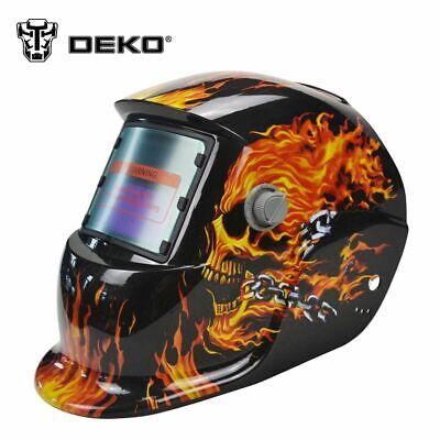 Deko Solar Auto Darkening Mig Mma Electric Welding Helmet Welder Cap