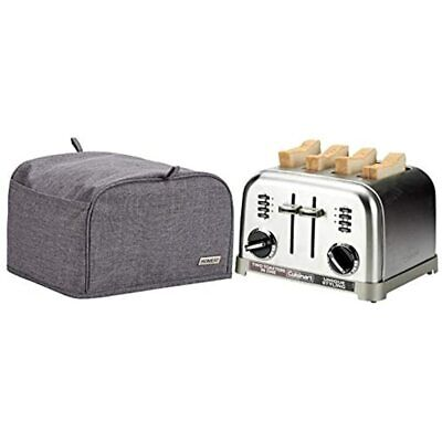 HOMEST 4 Slice Toaster Cover With Pockets, Can Hold Jam Spreader Knife & Dust