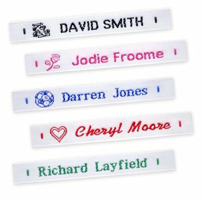 72 Woven Name Labels Sew In School Name Tags Tapes