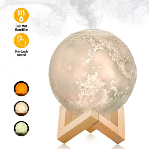 880ML Mist Maker USB Light Aromatherapy Diffuser 3D Moon Lamp Aroma Humidifier