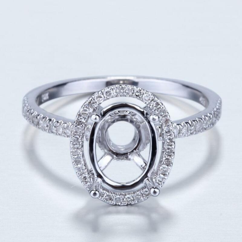 White Gold  Stone Ring Settings