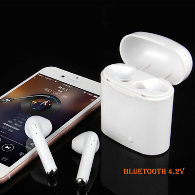 i7S TWS Twins Wireless Bluetooth Earbuds Built in Microphone for Hand Free Calls