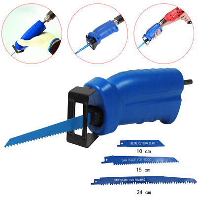 Cordless Reciprocating Saw Convert Adapter Wood Metal Cutter For Electric Drill