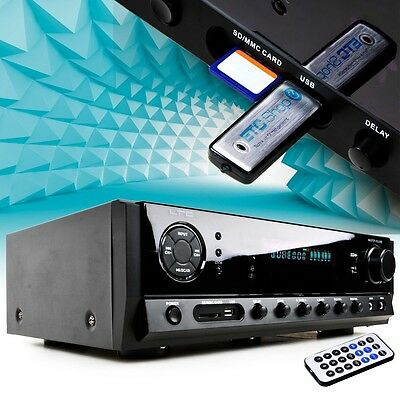 PA Endstufe Musik USB Verstärker Bluetooth Karaoke 160 Watt Sound Anlage MP3 AUX