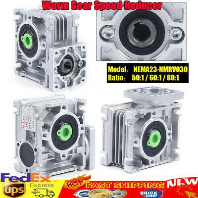 Worm Gearbox Worm Gear Reducer Nema23 Speed Ratio 50 60 801 For Stepper Motor