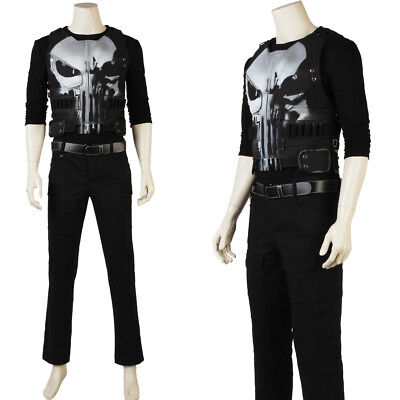 The Punisher Costume Season 1 Frank Castle Cosplay Costume Custom Made - The Punisher Halloween Costume