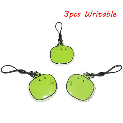 5pcs 125KHz RFID EM Writable Rwrite Proximity Induction Cartoon Green Tag Token