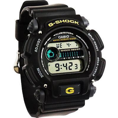 Casio Dw9052 1B Mens Classic G Shock Black Resin Digital Chronograph Sport Watch