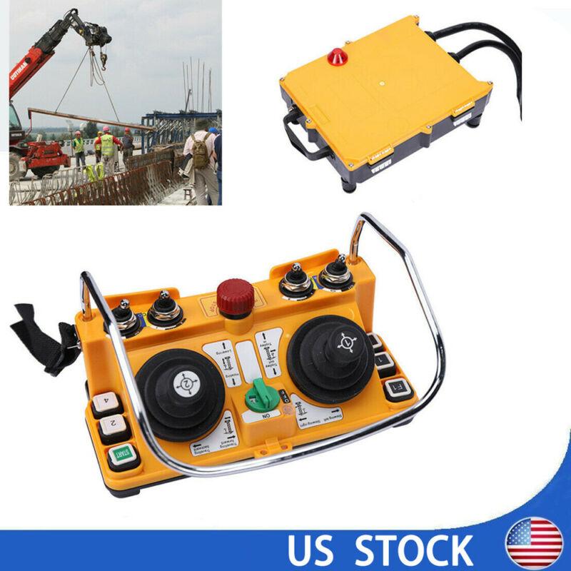 Transmitter+ Receiver Hoist Joystick Crane Radio Wireless Remote Control F24-60