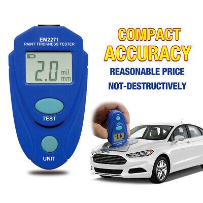 Lcd Digital Car Paint Coating Thickness Probe Tester Gauge Meter Measuring Tool.