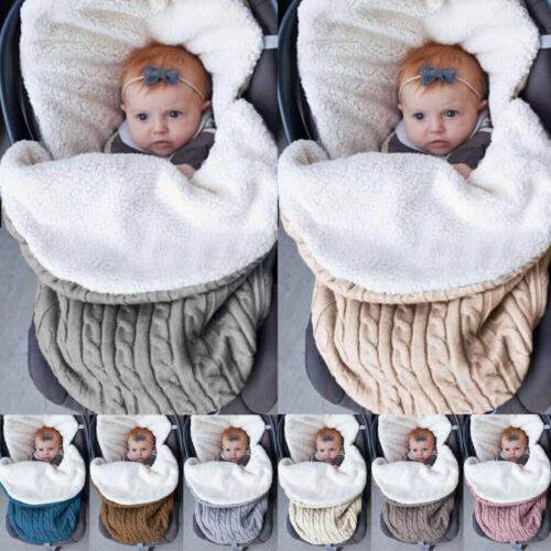 Newborn Child Baby Winter Soft Outdoor Travel Large Blanket Sleeping Bag GW