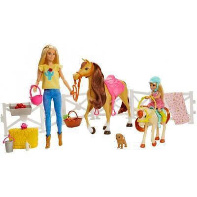 Barbie Hugs 'N' Horses Blonde Barbie & Chelsea Dolls with Horse & Pony Playset
