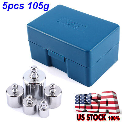 50g 20g2 10g 5g Grams Precision Calibration Scale Weight Set Kit Chrome Steel