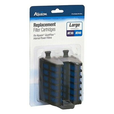 Aqueon Replacement FilterCartridge QuietFlow Internal Power Filter Large 2pk