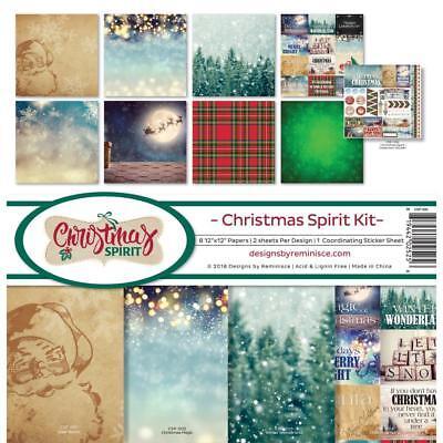 Scrapbooking Crafts 12X12 Paper Kit Christmas Spirit Plaid Santa Sleigh Let Snow](Paper Christmas Crafts)