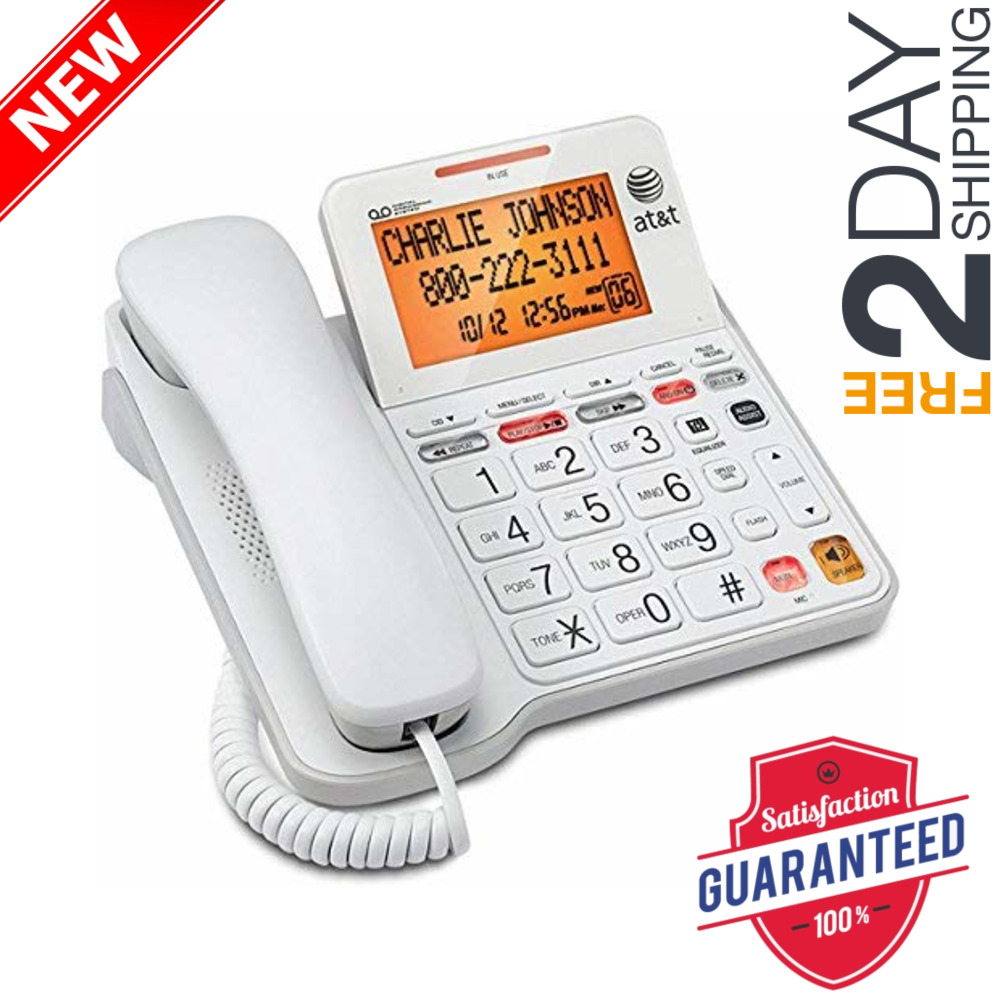 ATT Landline Phone With Answering Machine For Seniors Large