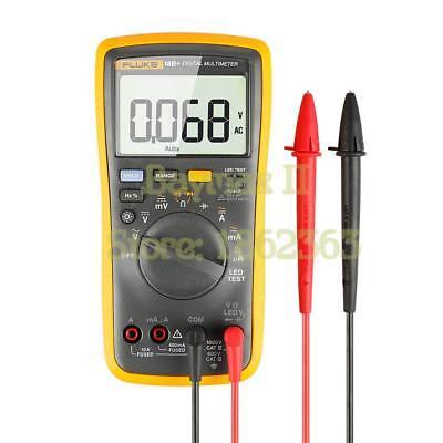 Fluke18b Acdc Voltagecurrent Ohm Auto Range Digital Multieter With Led Test