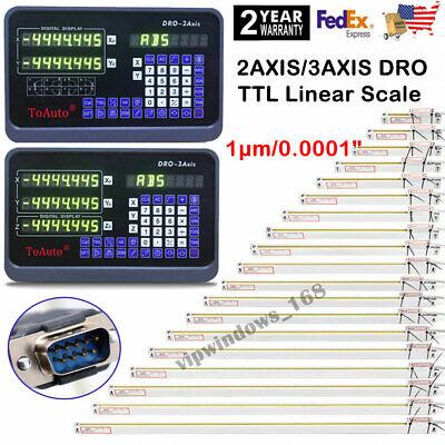 23 Axis Digital Readout Dro Ttl Linear Glass Scale Encoder Edm Milling Lath 1m