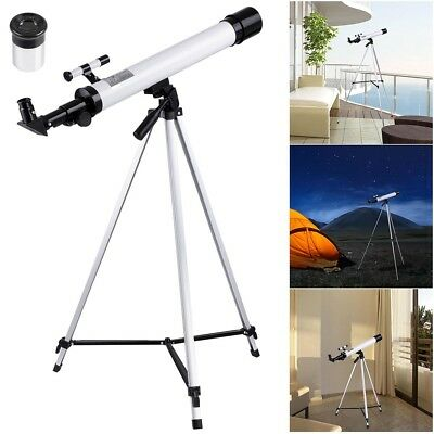 50mm Astronomical Refractor Telescope Refractive Eyepieces Tripod Beginners