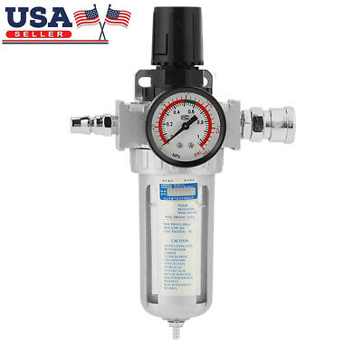 Rc14 Air Compressor Filter Moisture Water Trap Tools With Regulator Gauge Us
