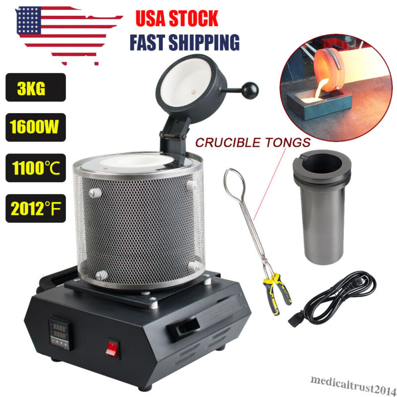 3KG Automatic Electric Digital Melting Furnace Machine Gold Jewelry Casting Tool