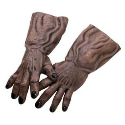Giant Brown Monster Zombie Alien Arms Hands Adult Halloween Costume Gloves L 18