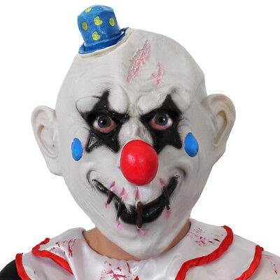 STITCHED LIPS CLOWN MASK HALLOWEEN LATEX KILLER SCARY HORROR FANCY DRESS PARTY