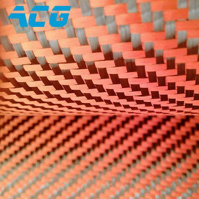 Twill 200g Orange 3k Carbon Fiber Cloth Fabric
