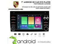 "Porsche Cayenne 7"" Car DVD USB SD Stereo Android 6.0 HD GPS Bluetooth Headunit with Wifi Internet"