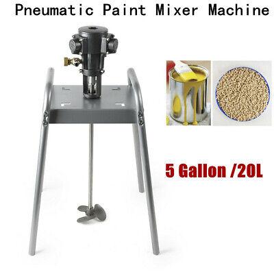 5 Gallon Platform Pneumatic Paint Glue Impeller Mixer Stainless Steel Propeller