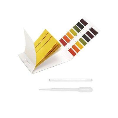 80pcs Litmus Ph Test Strip1-14glass Roddropper-saliva Urine Water Hydroponic