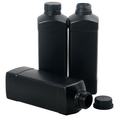 3x Darkroom Chemical Storage Bottles 1L For 120 135 Film Photo Developer Process