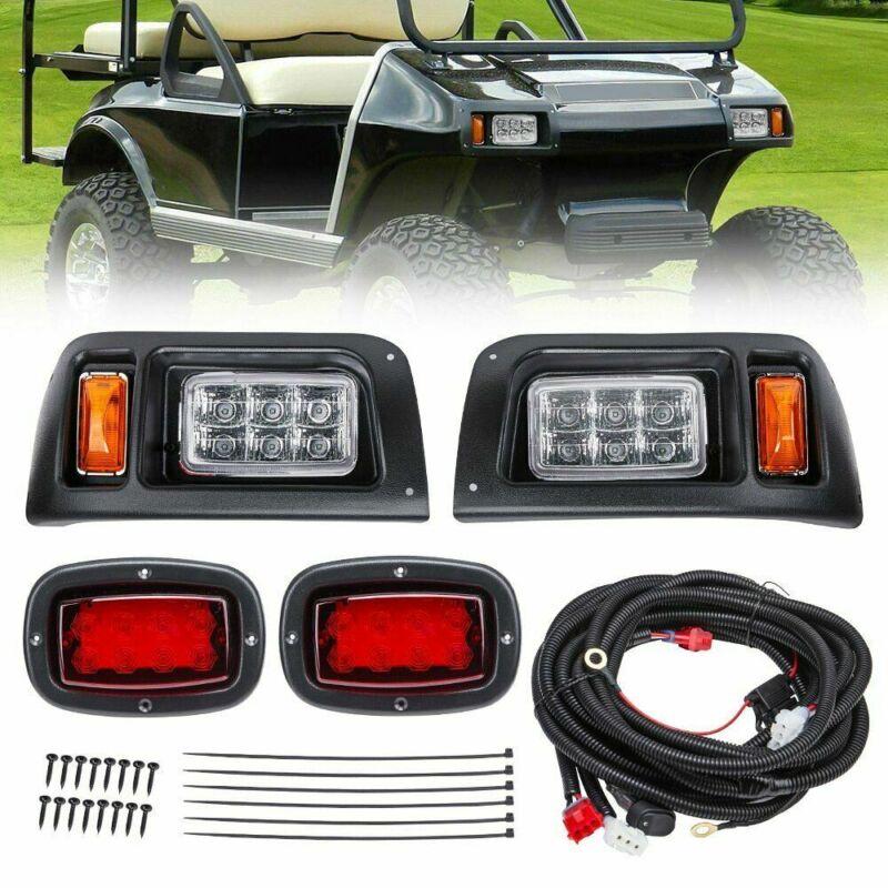 For Club Car DS Golf Cart FULL LED Headlight & Tail Light Kit 1993-UP Gas & Elec
