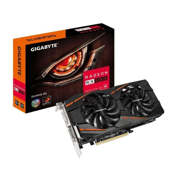 Gigabyte AMD Radeon RX 580 Gaming OC 8GB GDDR5 Graphics Video Card DVI HDMI DP