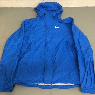 Helly Hansen Men's Rain Jacket Blue Good Condition Lightly Used