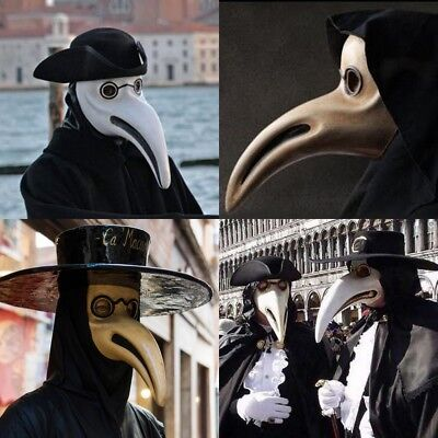 Halloween Prom (The Plague Doctor Halloween Costume Prom Cosplay Party Nose Bird mask)