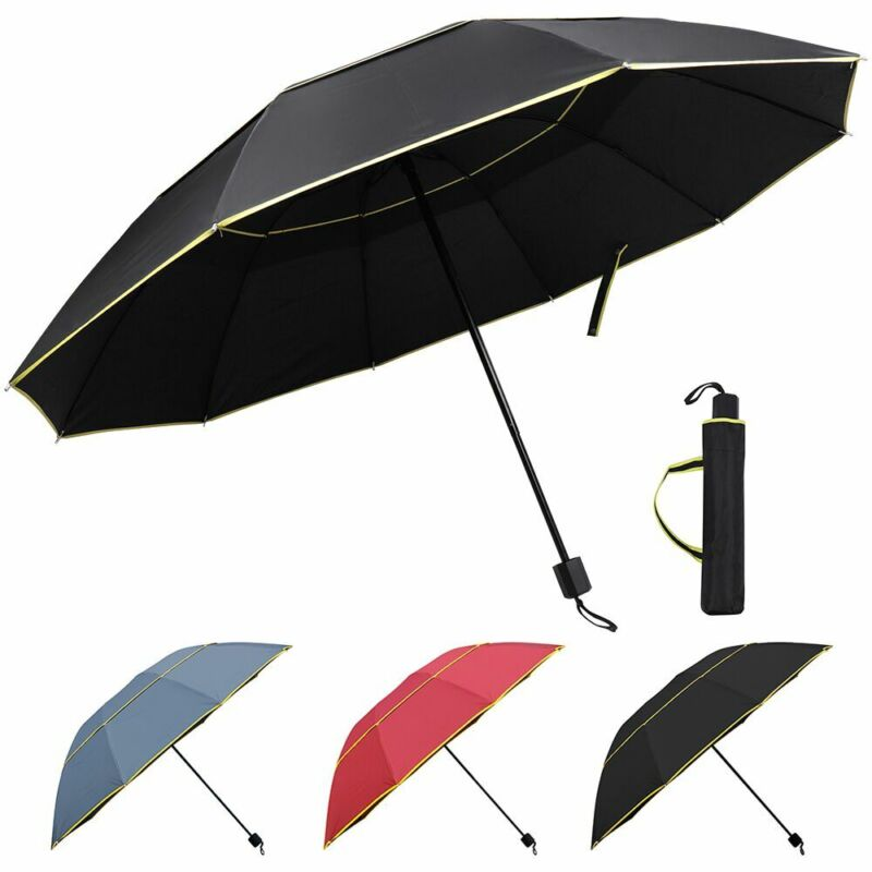 Large Oversize Golf Umbrella Men Women Windproof Rain Sun Anti UV Folding Canopy