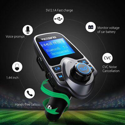 US Victsing T11 Bluetooth FM Transmitter USB Radio Adapter Car AUX Receiver New