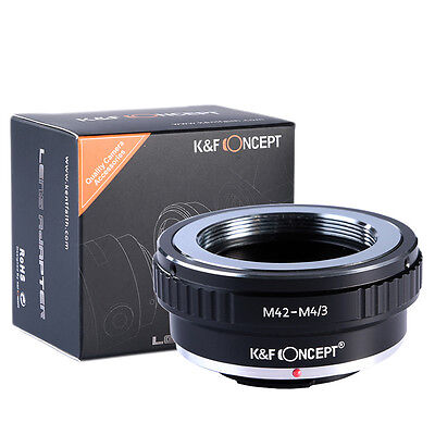 K&F Concept M42-M4/3 M42 Lens to Micro 4/3 M4/3 Adapter for Olympus Panasonic