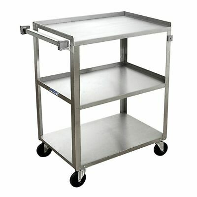 Hubert Utility Cart With 3 Shelves Stainless Steel - 27 12 L X 16 34 W X 32 H