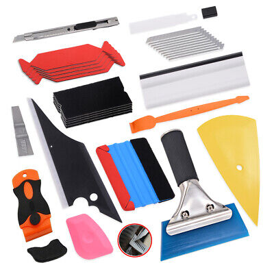 10 FolierSet Folien verklebe Set Filz Rakel, cutter, Car Wrapping,Autoaufkleber Rakel