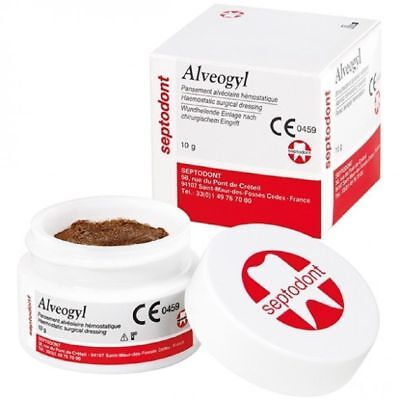 5 X Septodont Alveogyl Paste 10gm Dry Socket Treatment Dental Material