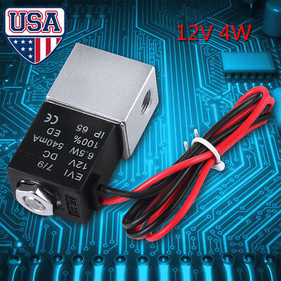 2 Way 12v Dc 18 Normally Closed Pneumatic Electric Solenoid Air Valve Control