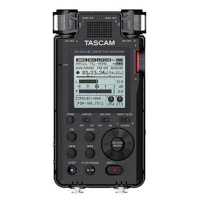Tascam DR-100 MKIII MK3 2-Ch Portable Linear PCM Handheld Stereo Audio -