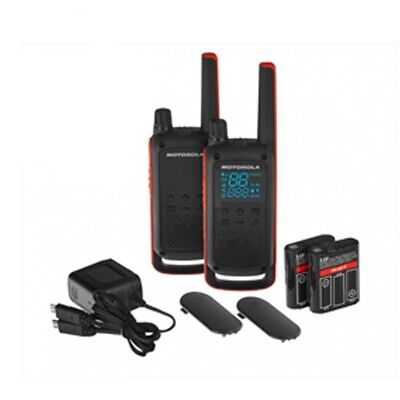 Motorola Talkabout T82 Walkie Talkie Go Adventure Twin Pack Radio with Charger
